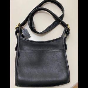 Vintage Coach Leather Black Purse Crossbody